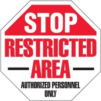 Stop Restricted Area Security Signs
