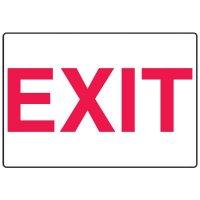 Exit Fiberglass Sign