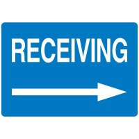 High Visibility Overhead Signs - Receiving With Right Arrow
