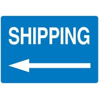 High Visibility Overhead Signs - Shipping With Left Arrow