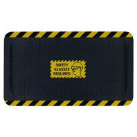 Hog Heaven™ Safety Message Anti-Fatigue Mats - Safety Glasses Required