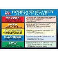 Homeland Security Detailed Advisory System Wallchart