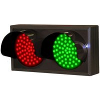Hooded Horizontal Direct View Sign - Red/Green