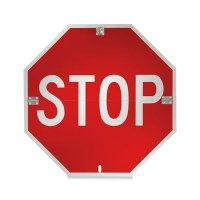STOP - Official Format Folding Temporary or Part Time STOP Sign