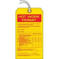 Hot Work Permit Hazard Information Tags