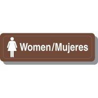 Bilingual Women's Restroom Decor Signs