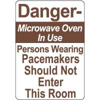 Microwave Oven In Use Signs