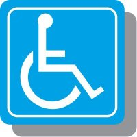 Handicapped Symbol Decor Signs