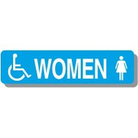 Women's Handicap Restroom Signs