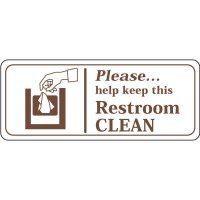 Keep This Restroom Clean Signs
