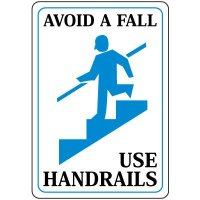 Use Handrails Signs