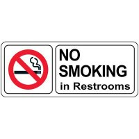 No Smoking In Restroom Sign