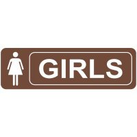 Girls Restroom Signs