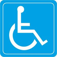 Handicap Symbol Decor Signs
