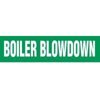 Boiler Blowdown Pipe Markers