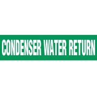 Condenser Water Ret. Pipe Markers