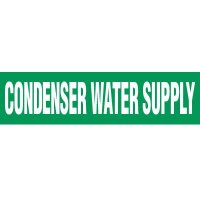 Condenser Water Sup. Pipe Markers