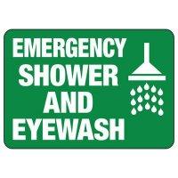 Emergency Shower And Eyewash Sign