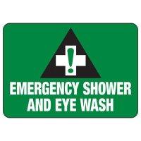 Shower, Eyewash & First Aid Signs - Emergency Shower and Eye Wash