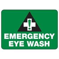 Shower, Eyewash & First Aid Signs - Emergency Eye Wash