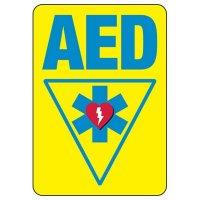 Shower, Eyewash & First Aid Signs - AED