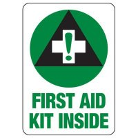 Shower, Eyewash & First Aid Signs - First Aid Kit Inside