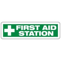 First Aid Station Safety Sign