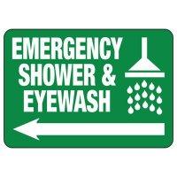 Emergency Shower Arrow Sign