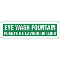 Bilingual First Aid Eyewash Fountain Sign