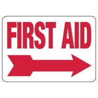 First Aid Sign (Right Arrow)