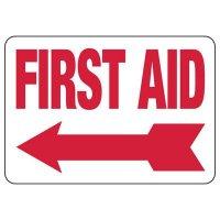 First Aid Sign (Left Arrow)