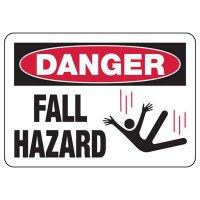 Danger Fall Hazard Construction Signs