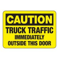 Caution Truck Traffic Sign