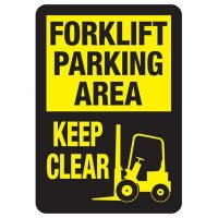 Forklift Parking Area Sign