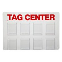 Information Center: Polystyrene, Red on White, 15.75 in H x 23.5 in W x 2 in D