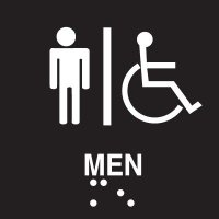 Men's Restroom Braille Signs - Injection Molded Signs