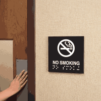 No Smoking Braille Signs - Injection Molded Signs