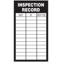 Inspection Record Labels - Inspection Record