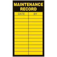 Inspection Record Labels - Maintenance Record