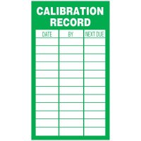 Inspection Record Labels - Calibration Record