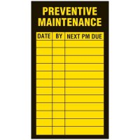 Inspection Record Labels - Preventive Maintenance
