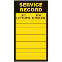 Inspection Record Labels - Service Record
