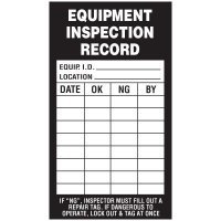 Inspection Record Labels - Equipment Inspection Record