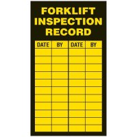 Inspection Record Labels - Forklift Inspection Record
