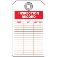 Inspection Record Red Tag