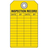 Inspection Record Yellow Tag