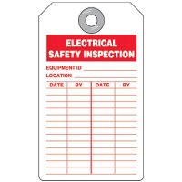 Electrical Safety Inspection Tag