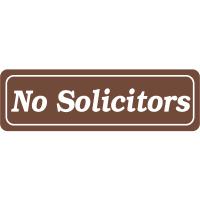 Interior Decor Security Signs - No Solicitors