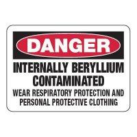 Internally Beryllium Contaminated - Chemical Warning Signs
