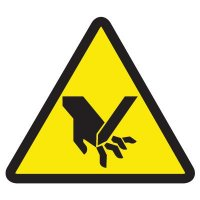 ISO Warning Symbol Labels - Cut Or Sever Hazard